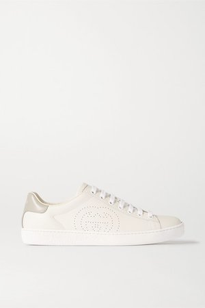 Gucci | Ace leather sneakers | NET-A-PORTER.COM