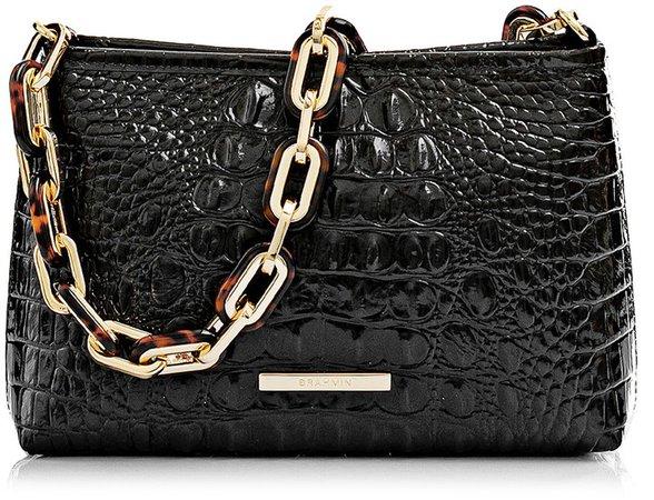 Mod Lorelei Croc Embossed Leather Shoulder Bag
