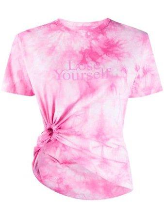 Paco Rabanne Lose Yourself tie-dye T-shirt pink 21PJTE045CO0392 - Farfetch