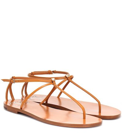 Valentino Garavani Nude leather sandals