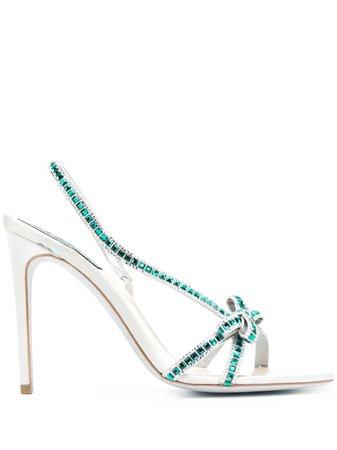 René Caovilla, crystal-embellished high-heel sandals