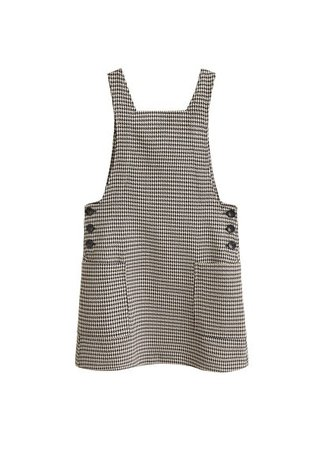 MANGO Houndstooth pinafore dress