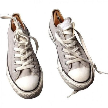 White Converse trainers