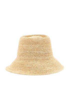 Felix Raffia Bucket Hat By Janessa Leone | Moda Operandi
