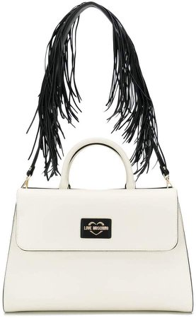 fringed strap tote
