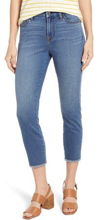 Fray Hem Crop Skinny Jeans