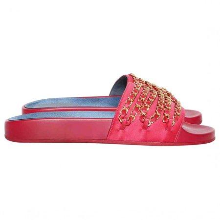 Pink Cloth Sandals