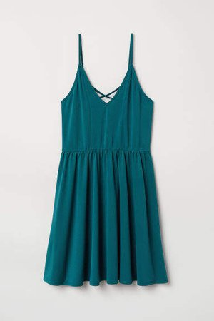Creped Jersey Dress - Turquoise