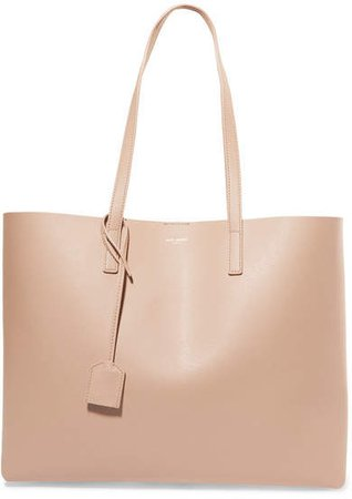 Shopper Large Leather Tote - Beige