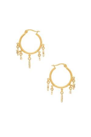 Tori Charm Hoop Earrings