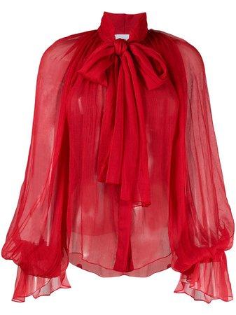 Atu Body Couture Шифоновая Блузка с Объемными Рукавами - Farfetch