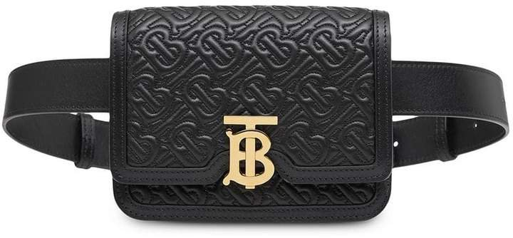 Belted Quilted Monogram Lambskin TB Bag