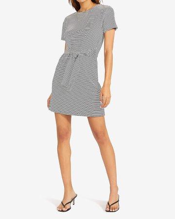 Bb Dakota Striped Knit T-Shirt Dress