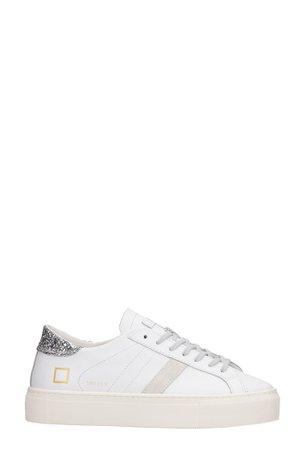 D.A.T.E. Vertigo Sneakers In White Leather