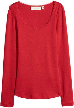 Jersey Top - Red