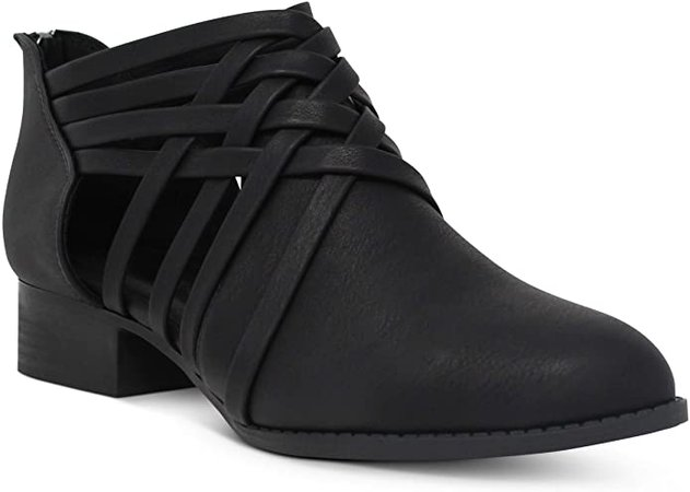 Amazon.com | MARCOREPUBLIC Kiev Women's Ankle Boots Booties - (Black PU) - 7 | Ankle & Bootie