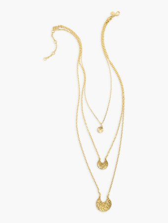 Triple Strand Seaside Necklace | Talbots