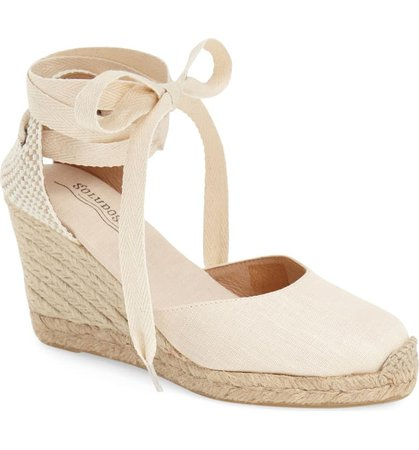 Soludos Wedge Lace-Up Espadrille Sandal (Women) | Nordstrom