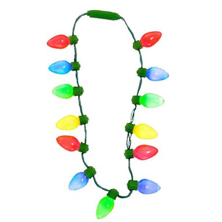 "16"" Large Light-up Christmas Tree Light Bulbs Necklace Costume Accessory - Walmart.com - Walmart.com"