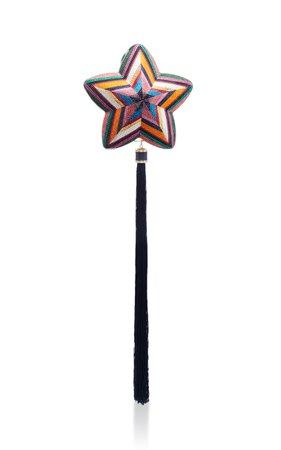 Tasseled Crystal-Embellished Star Clutch by Judith Leiber Couture | Moda Operandi