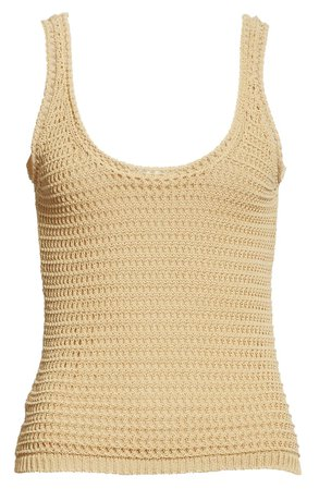 Vince Crochet Cotton Blend Tank | Nordstrom
