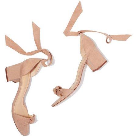 Clarita Block Heel Ankle Ribbon Sandals