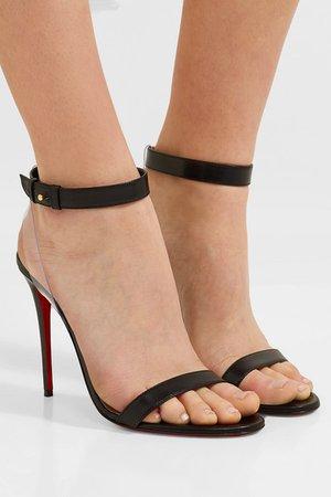 Christian Louboutin | Jonatina 100 PVC-trimmed leather sandals | NET-A-PORTER.COM