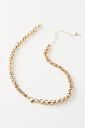 Kelly Heart Chain Necklace | Urban Outfitters