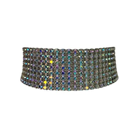 S/S 2000 Dolce and Gabbana Crystal Choker Necklace For Sale at 1stdibs