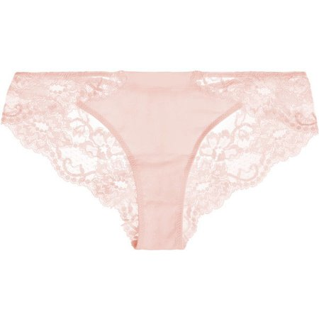 La Perla Souple Leavers lace and stretch-cotton jersey briefs