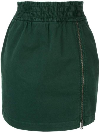 zip detail skirt