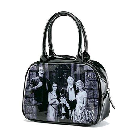 Rock Rebel Munsters Family Bowler Handbag: Handbags: Amazon.com