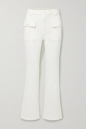 High-rise Flared Jeans - White