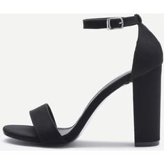 Two Part Block Heeled Sandals (1.745 RUB) ❤ liked on Polyvore featuring shoes, sandals, heels, black, chunky-heel sandals, black heeled sandals, block-heel shoes, high heel platform sandals and black block-heel sandals