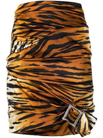 Alexandre Vauthier Tiger Print Mini Skirt