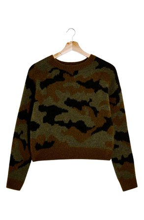 Topshop Camouflage Crewneck Sweater | Nordstrom