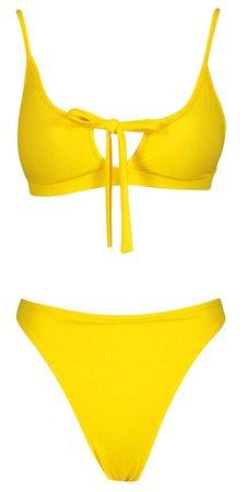 yellow bikini set | boohoo swimwear