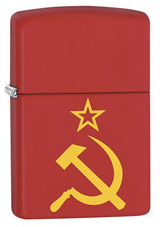 Amazon.com: Zippo Lighter: Hammer, Sickle and Star - Red Matte 79257: Health & Personal Care