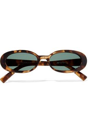 Le Specs | Lunettes de soleil ovales en acétate effet écaille Outta Love | NET-A-PORTER.COM