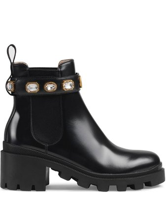 Gucci Leather Ankle Boot With Belt Aw20
