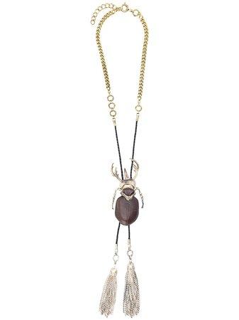 Gianfranco Ferré Pre-Owned 1990s Beetle Charm Necklace - Farfetch