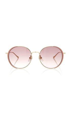 Guillochet Rounded Sunglasses by Gucci | Moda Operandi
