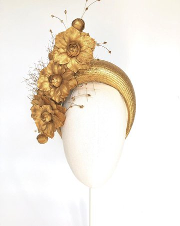 "JBH Millinery on Instagram: ""Gold Amelia band 💛 #headband #britishmillinery #madeinyorkshire #millinery"""
