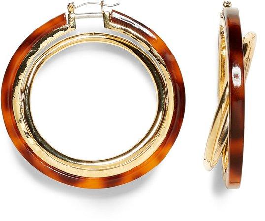 Interlocking Resin Hoop Earrings