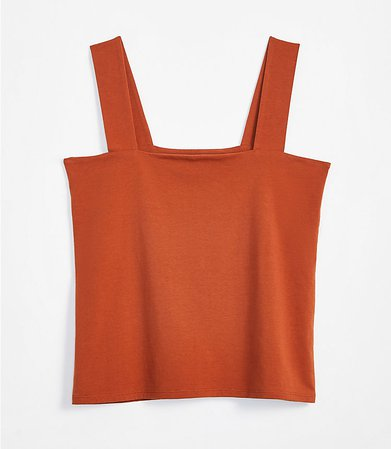 Fitted Square Neck Outfit-Making Tank   LOFT