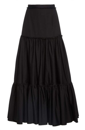 Brock Collection Raccon Tiered Cotton Maxi Skirt