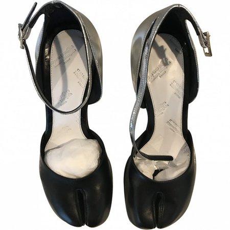 Tabi leather heels Maison Martin Margiela Silver size 39 EU in Leather - 7902090