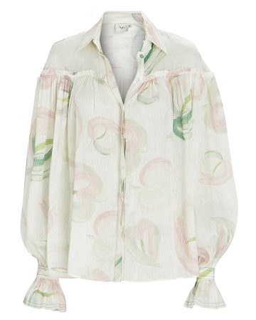 Aje Imprint Floral Button-Down Blouse | INTERMIX®