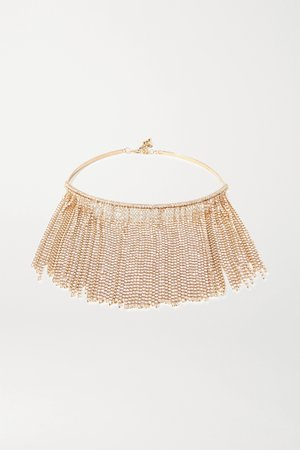Gold Tasseled gold-tone and crystal necklace | Rosantica | NET-A-PORTER