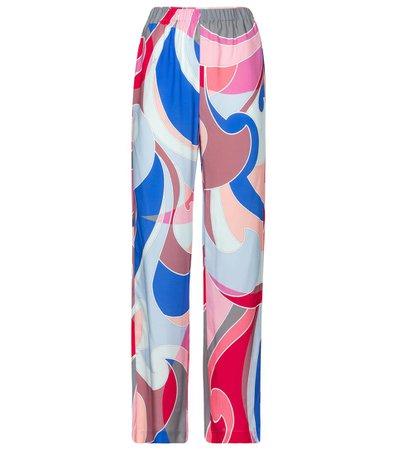 Emilio Pucci Beach - Printed wide-leg pants | Mytheresa